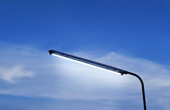 Street Lamps evening in blue sky vibrant Royalty Free Stock Photo