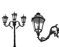 Street lamps isolated Royalty Free Stock Photo