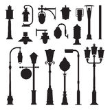 Street Lamps and Lamp Posts Icons Royalty Free Stock Photo