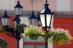 Street lamps. royalty free stock photo