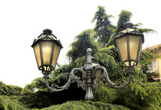 Street Lamps of Naples Italy Stock Images