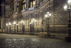 Street lamps near Semperoper (Saxon State Opera) Dresden Stock Photography