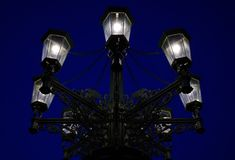 Street lamps at night Stock Photography