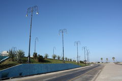 Street lamps in Port's Avenue Stock Photography