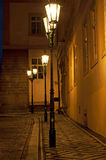Street Lamps in Prague Stock Images