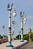 Street Lamps. In Ramoji Film City, Hyderabad Royalty Free Stock Images