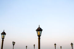Street lamps. On sky background stock image