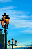 Street lamps in the sky Stock Photography