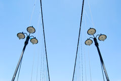 Street lamps under blue sky Royalty Free Stock Photo