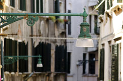 Street lamps in Venice Royalty Free Stock Photography