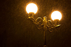 Street lamps winter Royalty Free Stock Photos