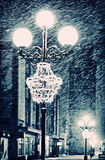 Street lamps winter Royalty Free Stock Image
