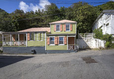 Street landscape of the city Road Town in Tortola Royalty Free Stock Photos