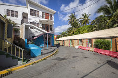 Street landscape of the city Road Town in Tortola Royalty Free Stock Image