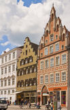 Street of Landshut, Germany Stock Images