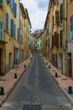Street. Lane quiet and peaceful village Royalty Free Stock Image