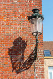 Street lanter and brick wall Royalty Free Stock Image