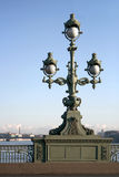 Street lantern. On the bridge in Petersburg Stock Photography