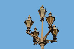 Street lantern on blue sky background Royalty Free Stock Image