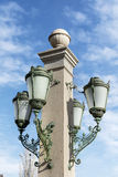 Street lantern  on blue sky background Stock Photos