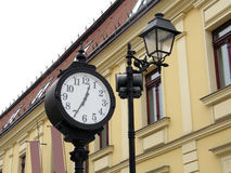 Street lantern and clock Royalty Free Stock Photography