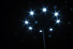 Street lantern on dark night. In stars shape Royalty Free Stock Photos