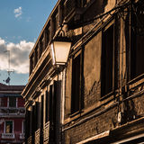 Street Lantern in front of a old Facade in Venice - Italy Stock Photography