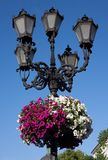 Street lantern in historical center of Lvov, Ukraine Stock Images