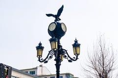 Street Lantern on Hunchun Street in China royalty free stock photo