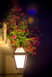 Street lantern illuminated at night Stock Photography