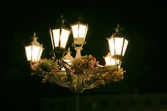 Street lantern at night. Royalty Free Stock Photos