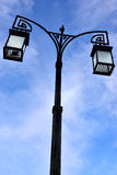 Street lantern over blue sky Royalty Free Stock Photo