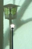 Street Lantern Shadow with Moth Stock Photo