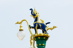 Street lantern in traditional Thai style Royalty Free Stock Photo