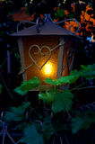 Street lantern in twilight hour. Summer nights. Royalty Free Stock Photography