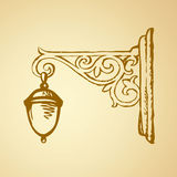 Street lantern. Vector sketch Stock Image