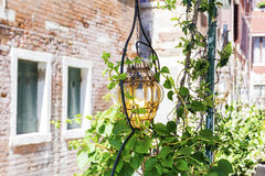 Street lantern  on a vintage building background Royalty Free Stock Photos