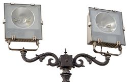 Street lantern  on a white. Background Royalty Free Stock Images