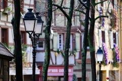 Street lanterns in Colmar, France Royalty Free Stock Photo