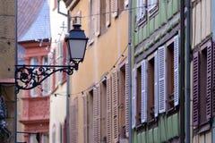 Street lanterns in Colmar, France Stock Photos