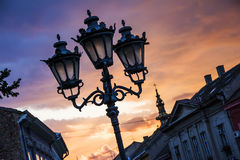 Street lanterns at dawn Royalty Free Stock Photo
