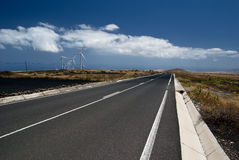 Street on Lanzarote Island Royalty Free Stock Images