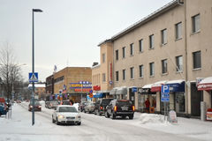 Street in Lappeenranta, Finland Stock Photography