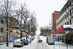 Street in Lappeenranta, Finland Royalty Free Stock Images