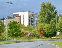 Street in Lappeenranta at ssummer. Stock Photos