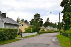 Street in Lappeenranta at ssummer. Royalty Free Stock Photography