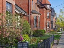 Large old Victorian houses. Street with large old Victorian houses royalty free stock image