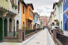Street in Las Arenas, Bilbao, Bizkaia, Spain. Royalty Free Stock Image