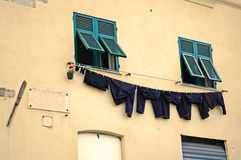 Street laundry Royalty Free Stock Photography