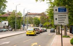 Street Leading Bourgas To Sofia, Bulgaria Royalty Free Stock Photo